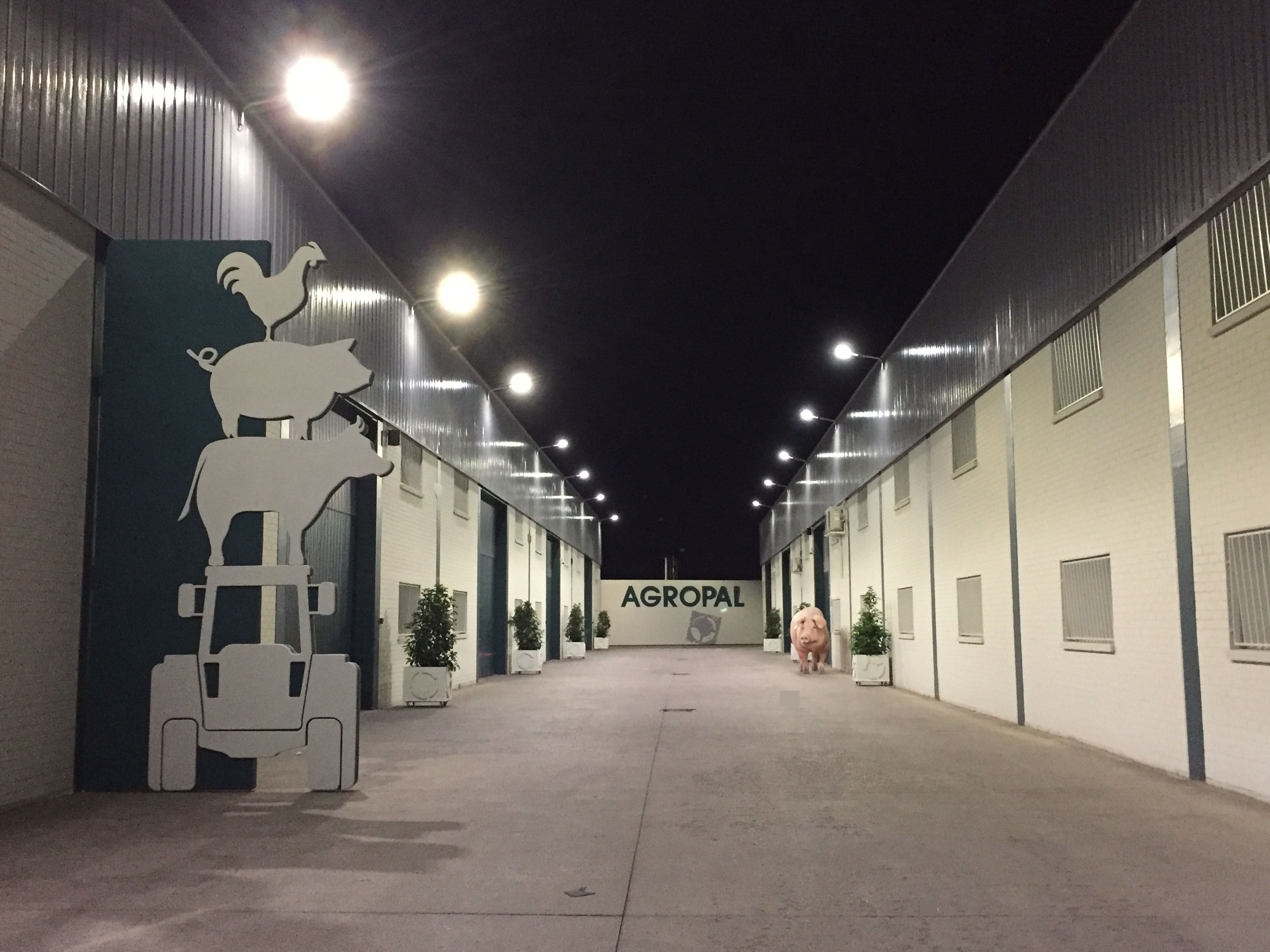 Inaugurada la iluminacin exterior de AGROPAL Agropal
