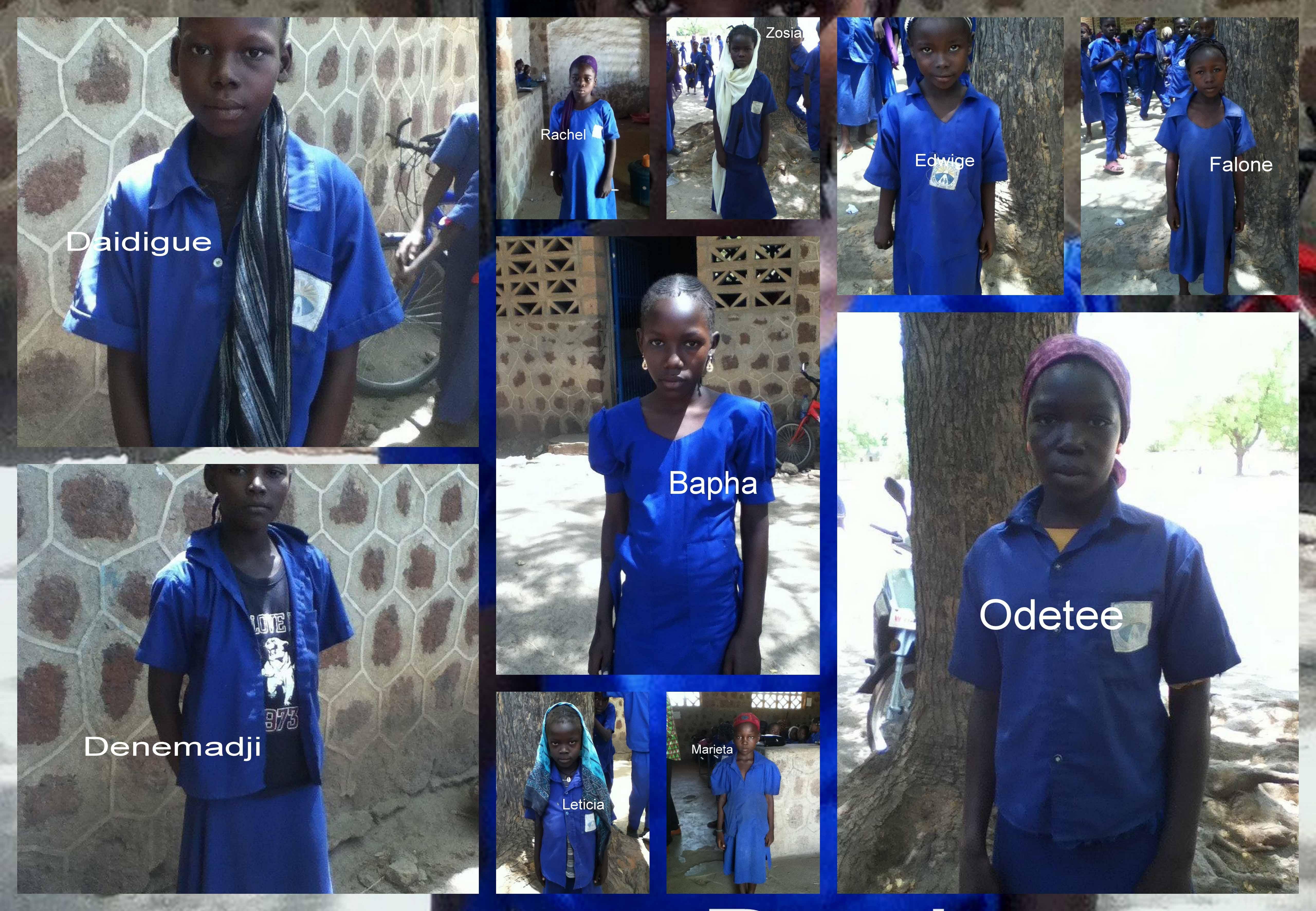 Escolartitzacio de 10 nenas en Tchad