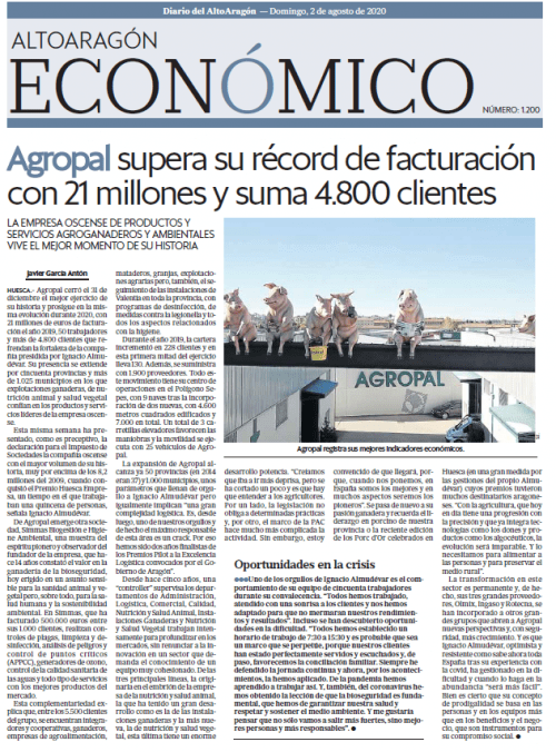 Agropal supera su récord de facturación con 21 millones y suma 4.800 clientes