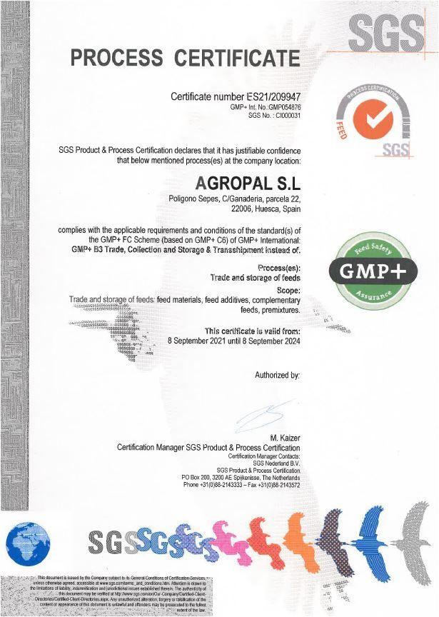 (Español) Agropal, se certifica en GMP+